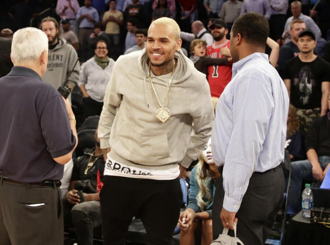 Chris Brown à New York le 20 août 2014