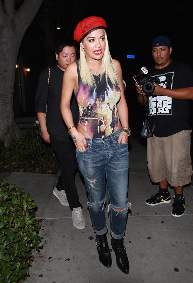 Rita Ora à West Hollywood le 5 août 2015