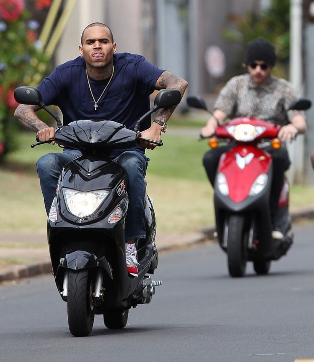 Chris Brown à Hawaï le 21 février 2013