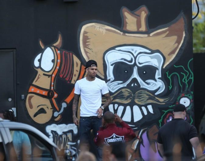 Chris Brown à Miami, le 27 mars 2013.