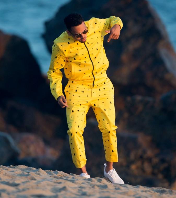 """Chris Brown sur le tournage de """"Do it again"""""""