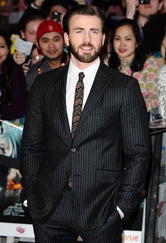 Chris Evans à Londres le 20 mars 2014