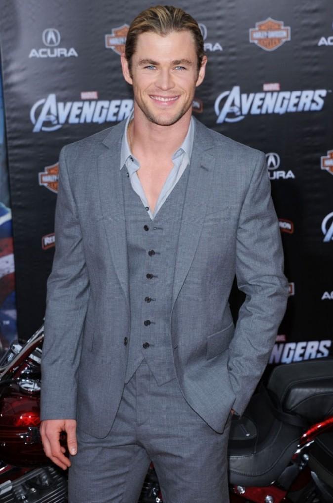 Chris Hemsworth à l'avant-première de The Avengers