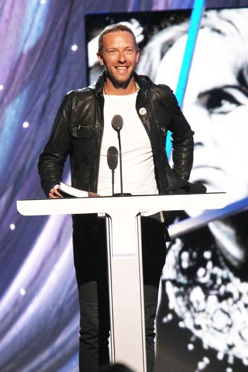 Chris Martin à New-York le 10 avril 2014