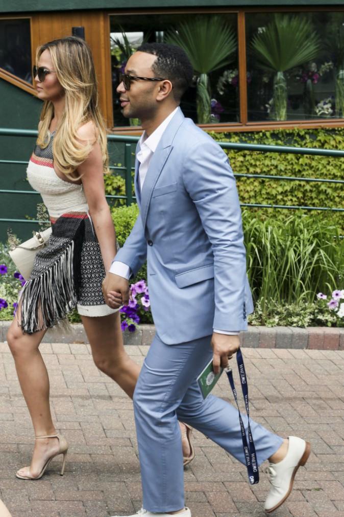 Chrissy Teigen et John Legend : Couple stylé pour se rendre à Wimbledon !