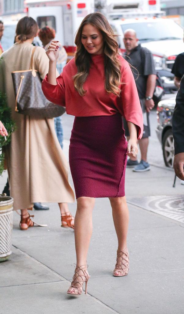 Chrissy Teigen rayonnante à New York ce mardi 13 septembre