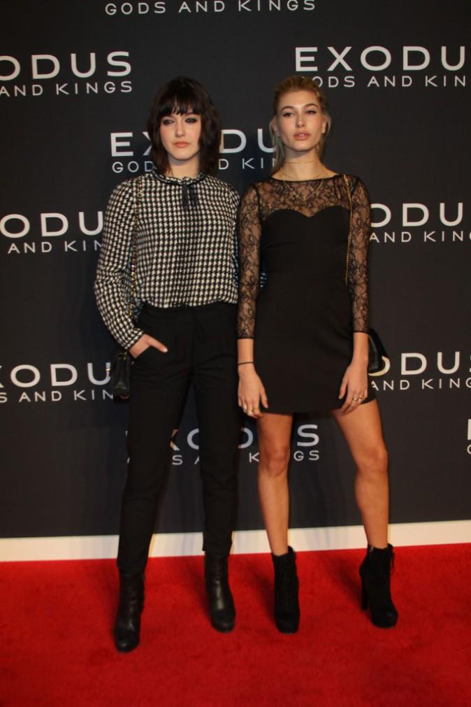 Alaia et Hailey Baldwin le 7 décembre 2014