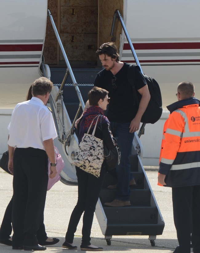 Christian Bale le 21 juillet 2012 à l'aéroport du Bourget