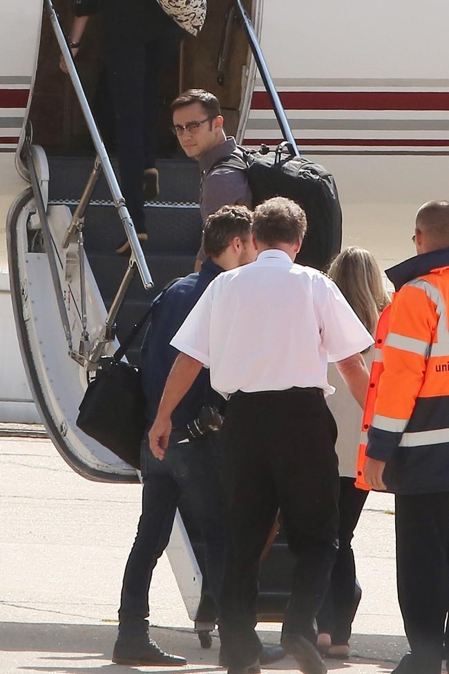 Joseph Gordon-Levitt le 21 juillet 2012 à l'aéroport du Bourget