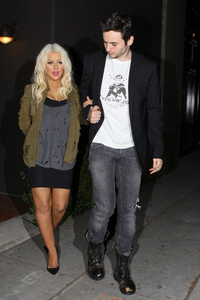 Christina avec son homme !