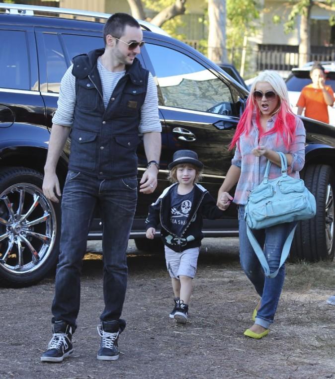 Christina Aguilera chez Mr. Bones Pumpkin Patch dans la banlieue de Los Angeles le 14 octobre 2012