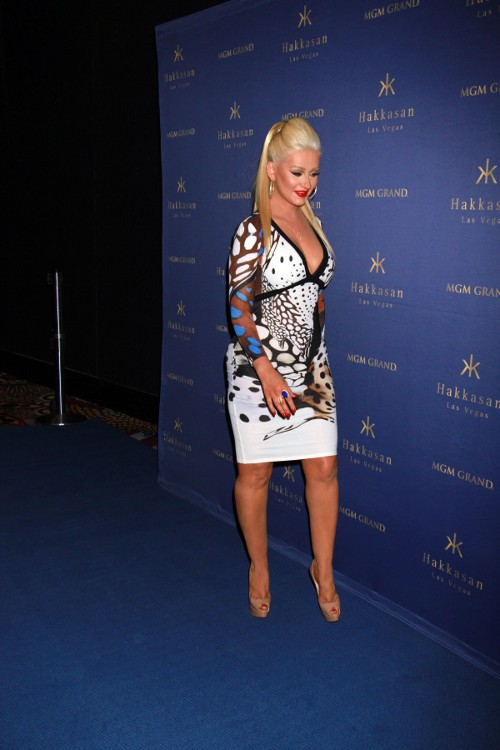 Christina Aguilera à Las Vegas le 17 avril 2015