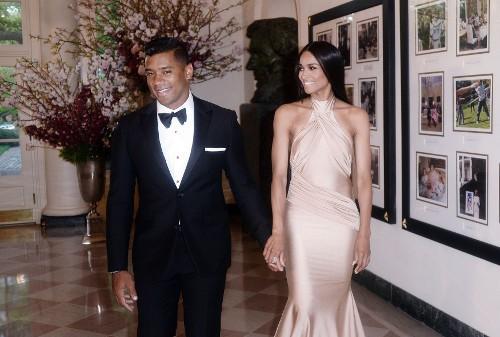Ciara et Russell Wilson à la Maison Blanche le 28 avril 2015