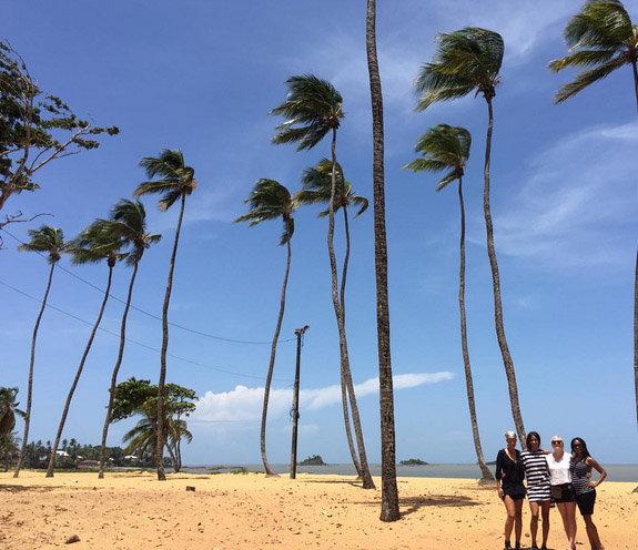 Ciara de passage aux Antilles
