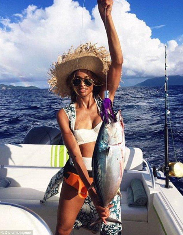 Ciara a pêché son premier poisson