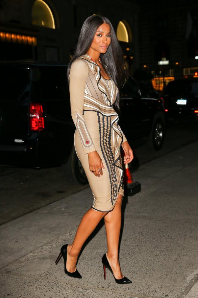 Ciara dans les rues de New York, le 10 août 2015