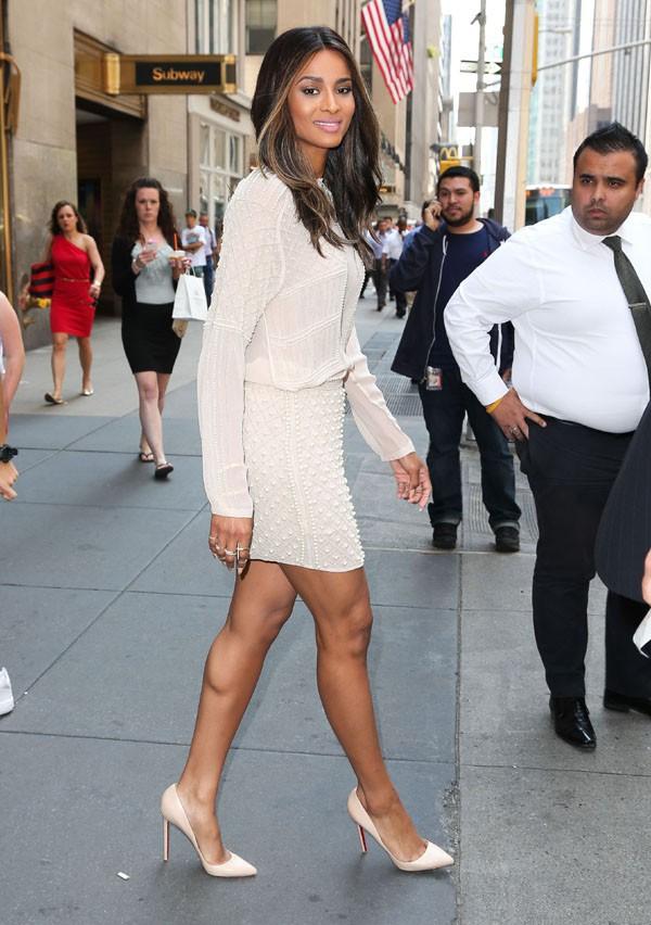 Ciara a la sortie des studios de la NBC à New-York le 21 août 2013