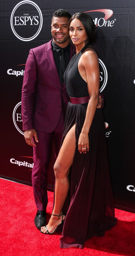 Ciara et Russel Wilson le 15 juillet 2015