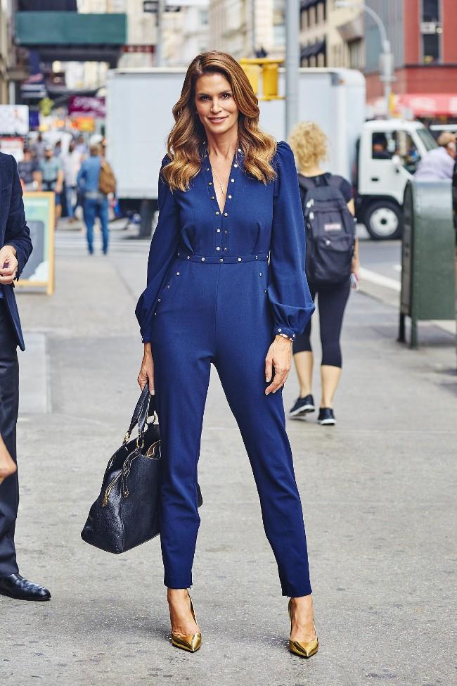 Cindy Crawford à New-York le 29 septembre 2015