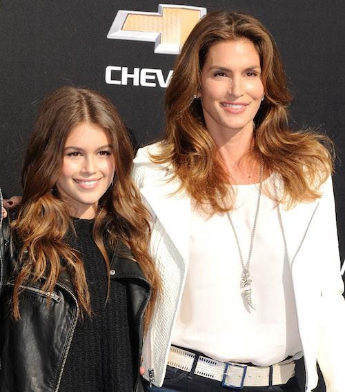Photos : Cindy Crawford et sa fille Kaia, copies conformes !