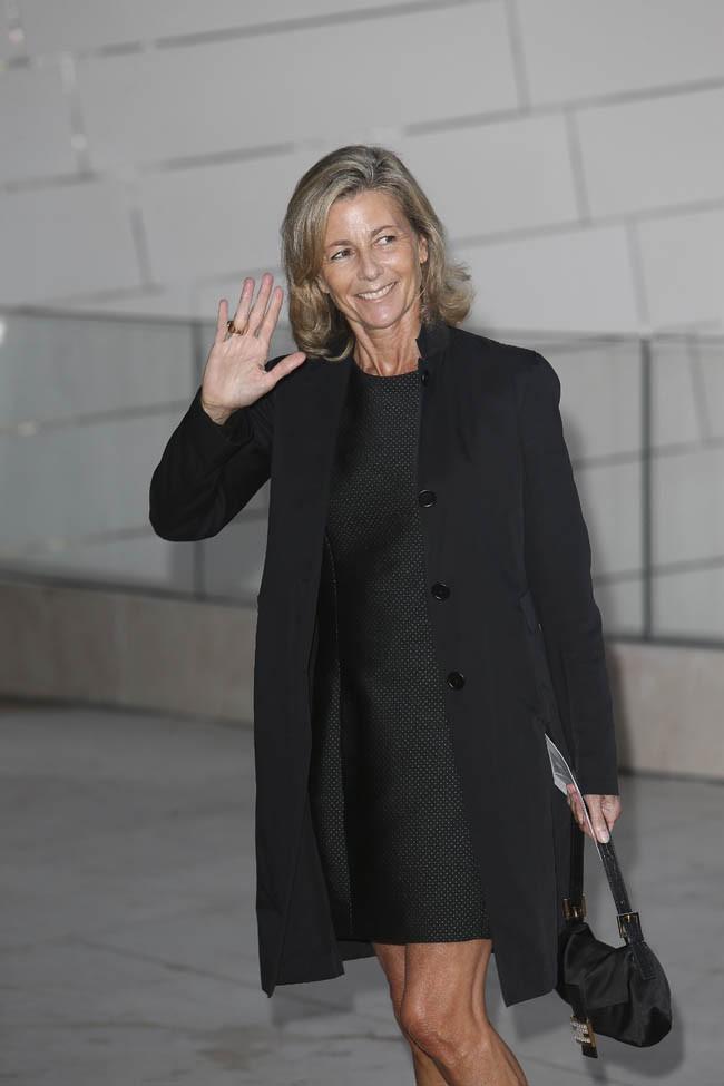 Claire Chazal à l'inauguration de la fondation Louis Vuitton organisée à Paris le 20 octobre 2014