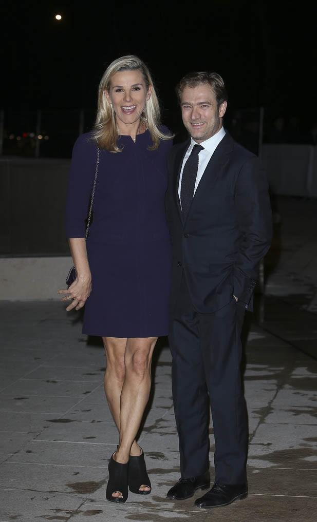 Laurence Ferrari et Renaud Capuçon à l'inauguration de la fondation Louis Vuitton organisée à Paris le 20 octobre 2014