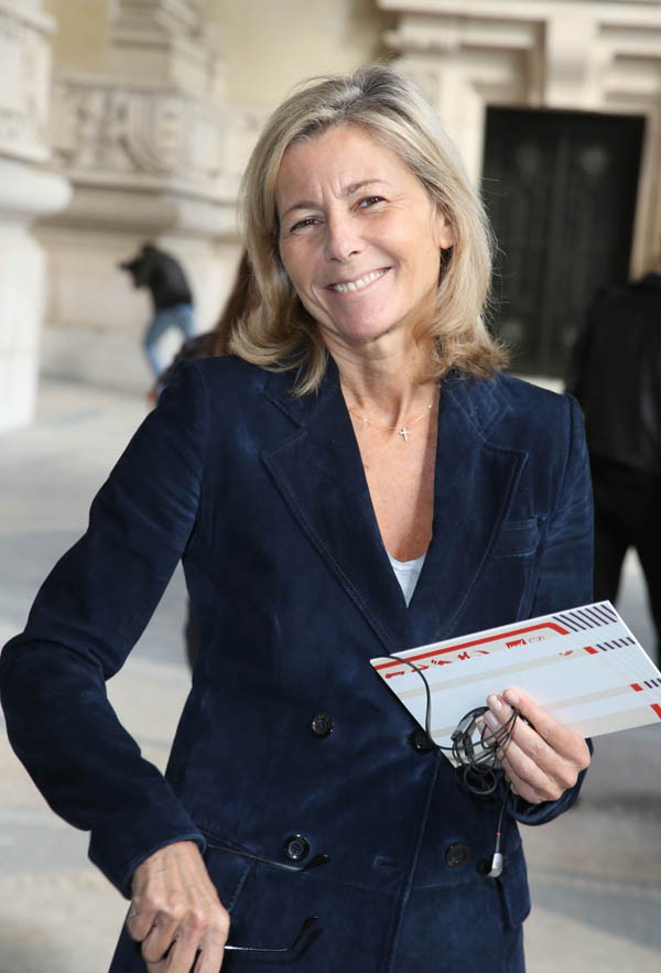 Claire Chazal au défilé Carven organisé au Grand Palais le 25 septembre 2014