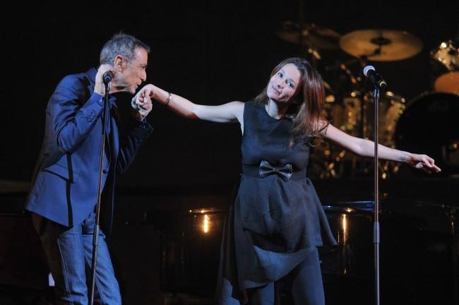 Alain Chamfort et Audrey Marnay le 30 janvier 2013 au Grand Rex, à Paris
