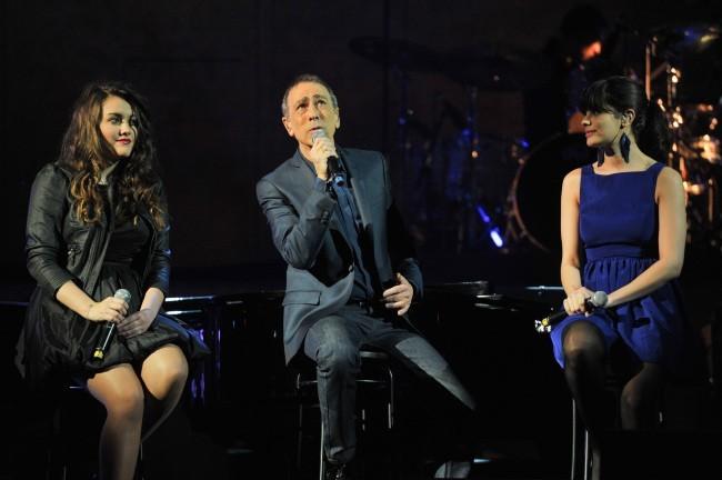 Alain Chamfort, Marina D'Amico et Sarah Manesse le 30 janvier 2013 au Grand Rex, à Paris