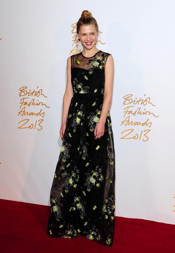 Clémence Poésy lors de la soirée The British Fashion Awards, le 2 décembre 2013.