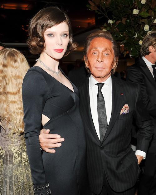 Coco Rocha avec Valentino au New York Ball, le 19 novembre 2014