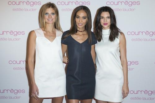 Constance Jablonski, Joan Smalls, Kendall Jenner à la soirée Courrèges et Esthée Lauder à Paris le 7 mars 2015 !