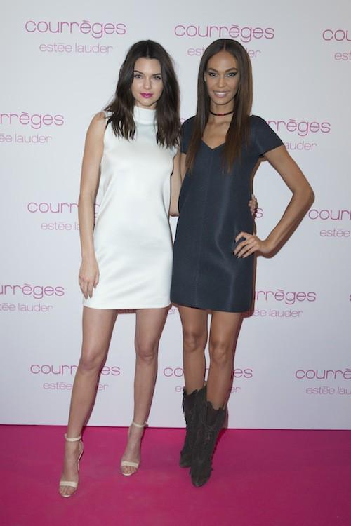 Joan Smalls et Kendall Jenner à la soirée Courrèges et Esthée Lauder à Paris le 7 mars 2015 !
