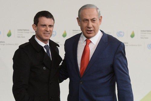 Manuel Valls et Benjamin Netanyahou (Israël)