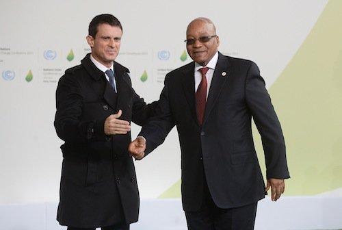 Manuel Valls et Jacob Zuma (Afrique du sud)