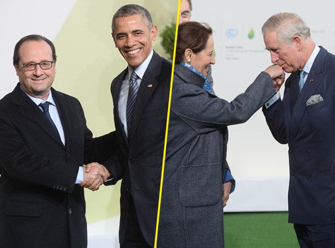 """Photos : COP21 : François Hollande et Ségolène Royal : un """"couple"""" au taquet pour accueillir les plus grands !"""