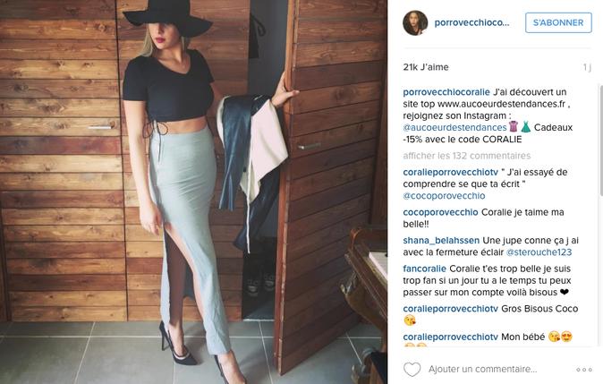 Photos : Coralie (Les Anges 8) sous le même objectif que... Kim Kardashian !