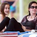 Courteney Cox et sa fille Coco le 18 novembre 2012 à Miami