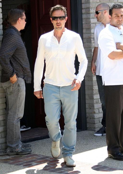 David Arquette lors de la fête organisée par Joel Silver à l'occasion du Memorial Day, le 30 mai à Malibu.