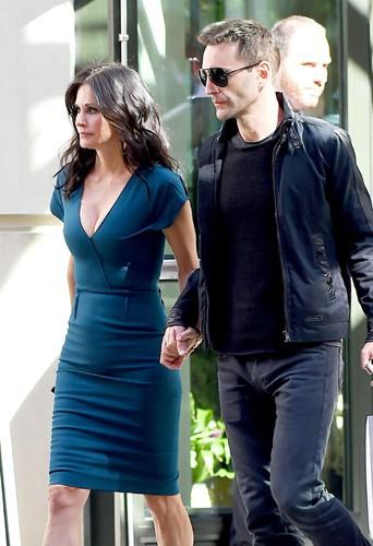 Johnny McDaid et Courteney Cox à New York le 21 avril 2014