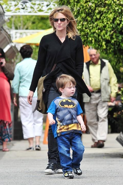 Avec son fils, le personnage principal de sa vie !