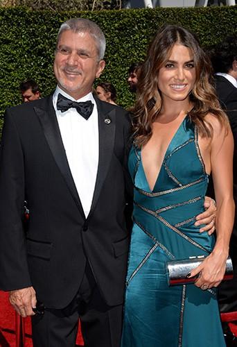 Nikki Reed et son père à Los Angeles le 16 août 2014