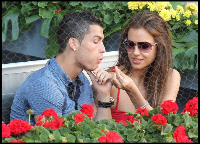 Cristiano Ronaldo et Irina Shayk à Madrid, le 9 mai 2011.
