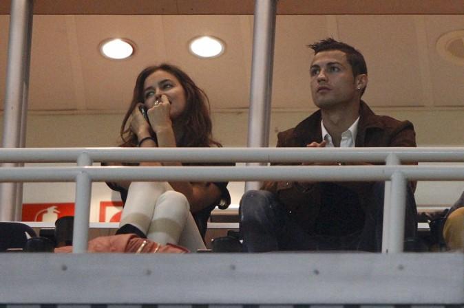 Irina Shayk et Cristiano Ronaldo à Madrid, le 27 septembre 2012.