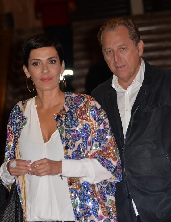 Cristina Cordula et con compagnon à Paris le 28 septembre 2015