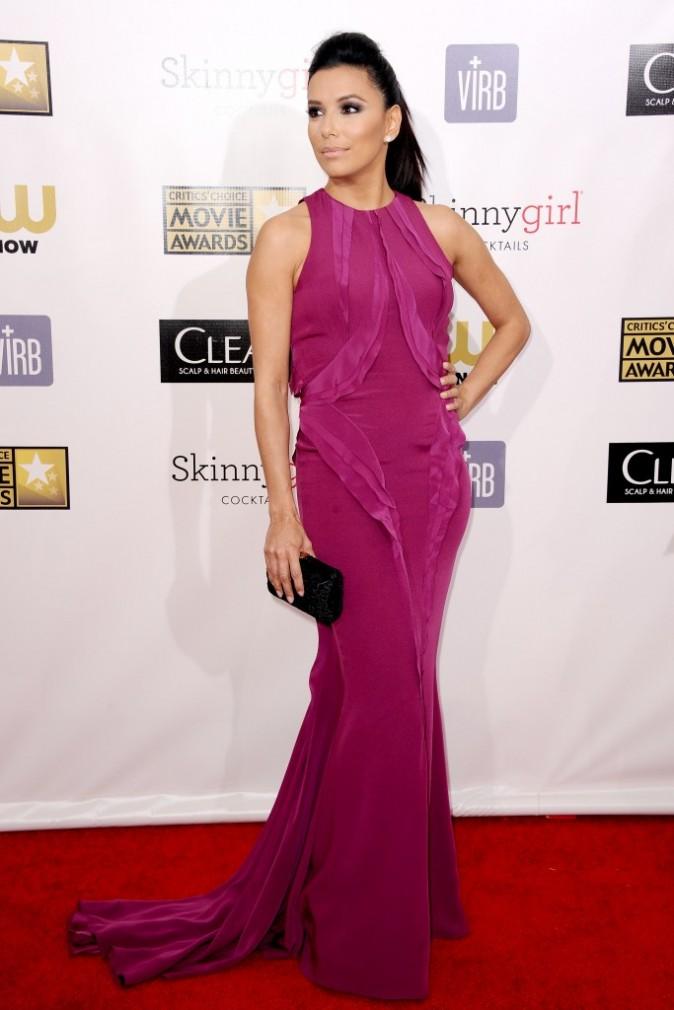 Eva Longoria lors des Critics' Choice Awards à Santa Monica, le 10 janvier 2013.
