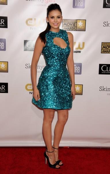 Nina Dobrev lors des Critics Choice Awards 2013 à Santa Monica, le 10 janvier 2013.