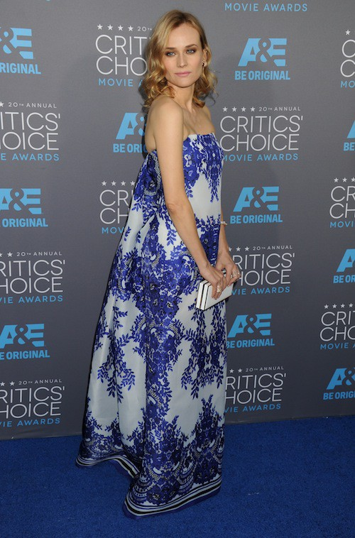 Photos : Critics Choice Movie Awards : Diane Kruger : rayonnante pour un red carpet en solo !