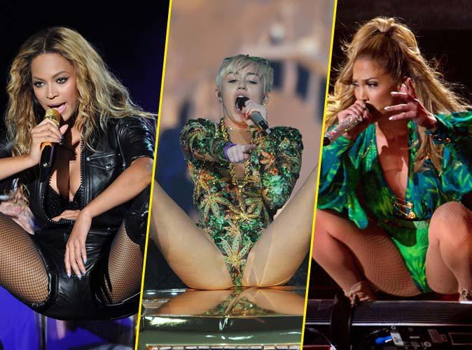 Cuisses écartées, fessiers en arrière, LA pose hot et fétiche des popstars !