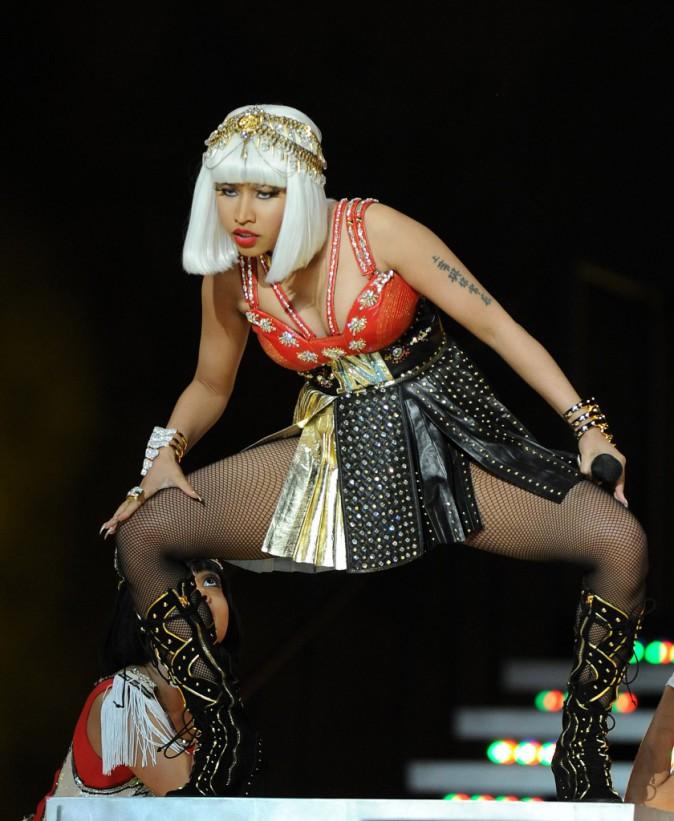 Nicki Minaj, sur scène lors du Super Bowl XLVI à Indianapolis le 5 février 2012.